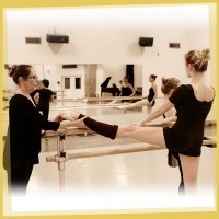 Ballet teacher and her student