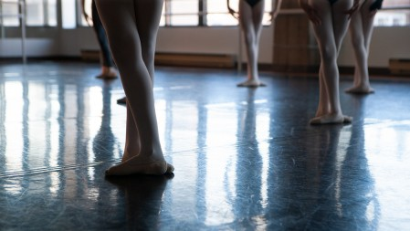 dancer's hand on barre
